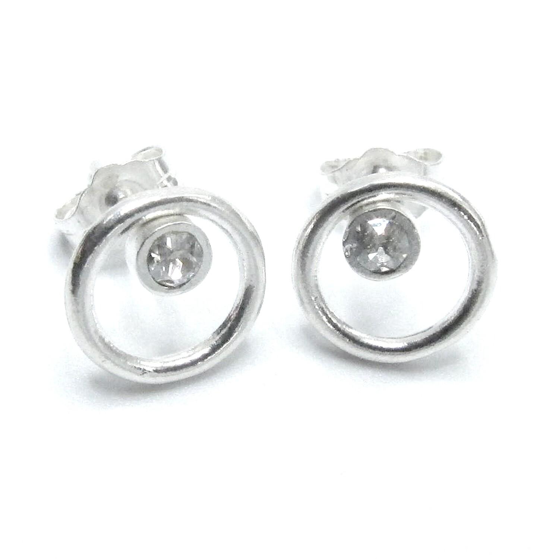 Sterling Circle Stud Earrings