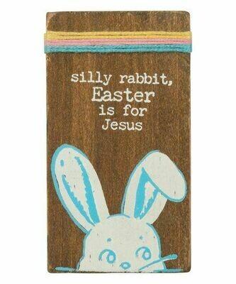 Stitched block- silly rabbit