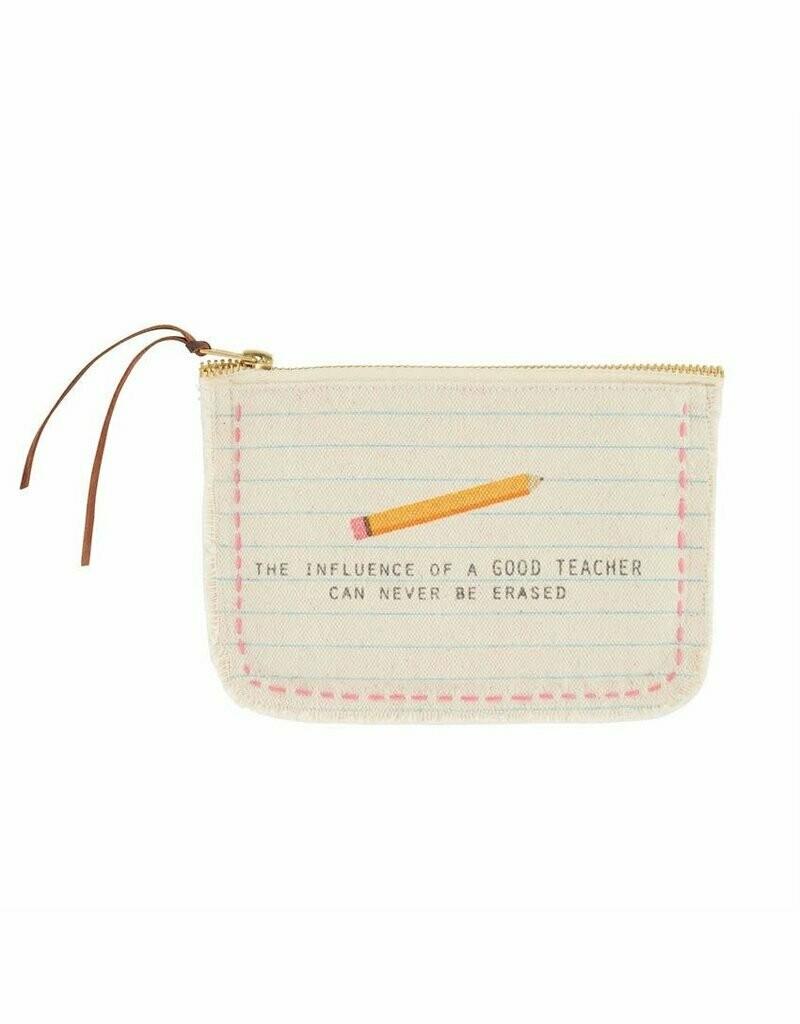 Frayed Teacher Pouch - Pencil