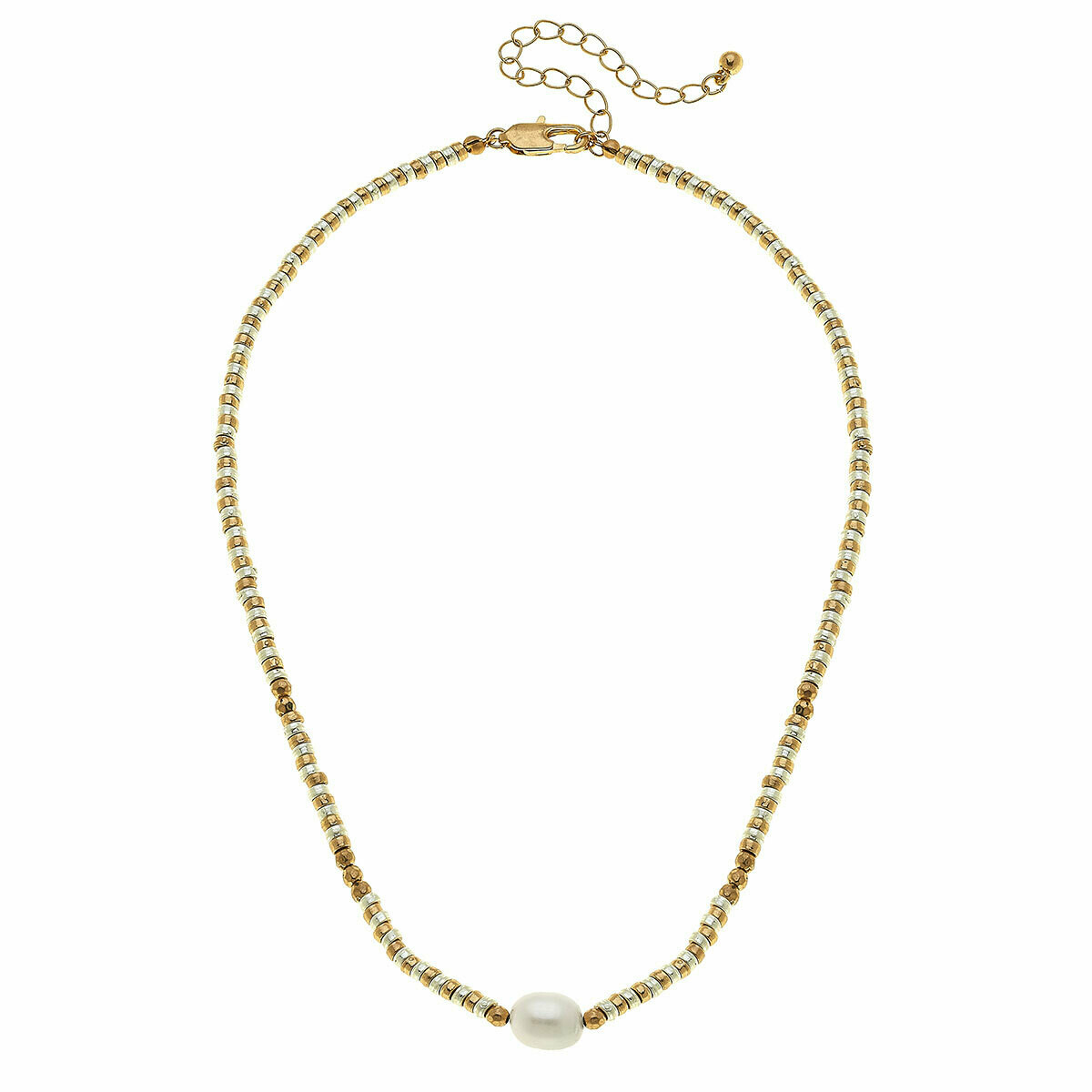Lulu Two Tone Pearl Necklace