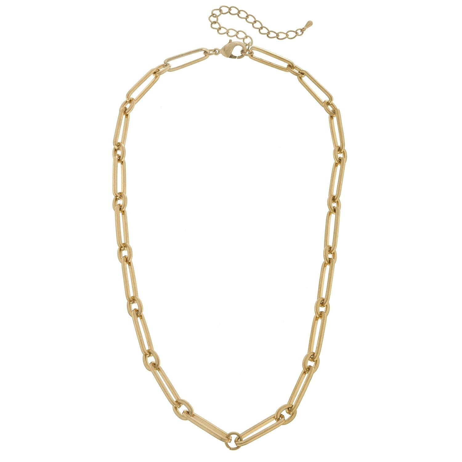 Miller Elongated Paperclip Necklace
