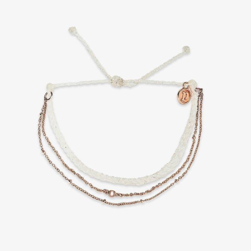 PV Satellite Chain Bracelet White