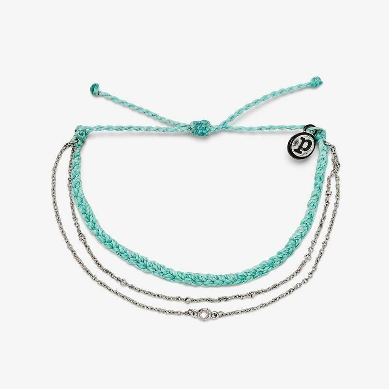 PV Satellite Chain Bracelet Seafoam