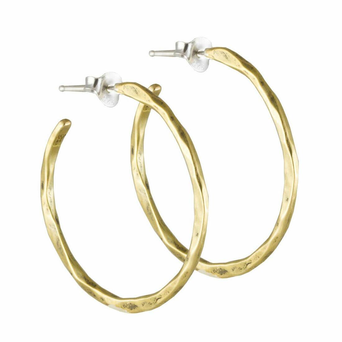 Free Form Medium Brass Earrings