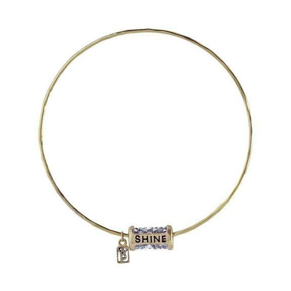 Kristal Bangle Brass
