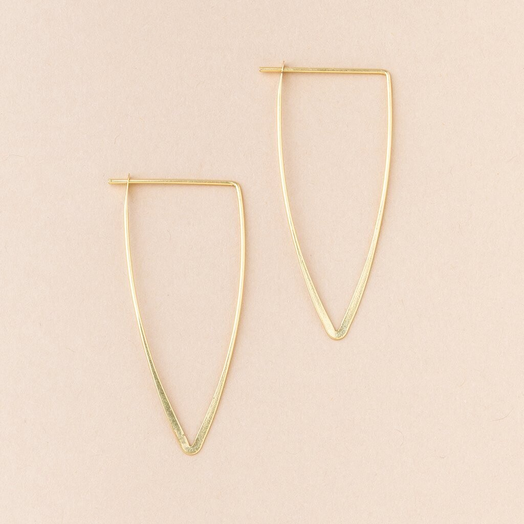 Refined Earring Galaxy Triangle - Gold