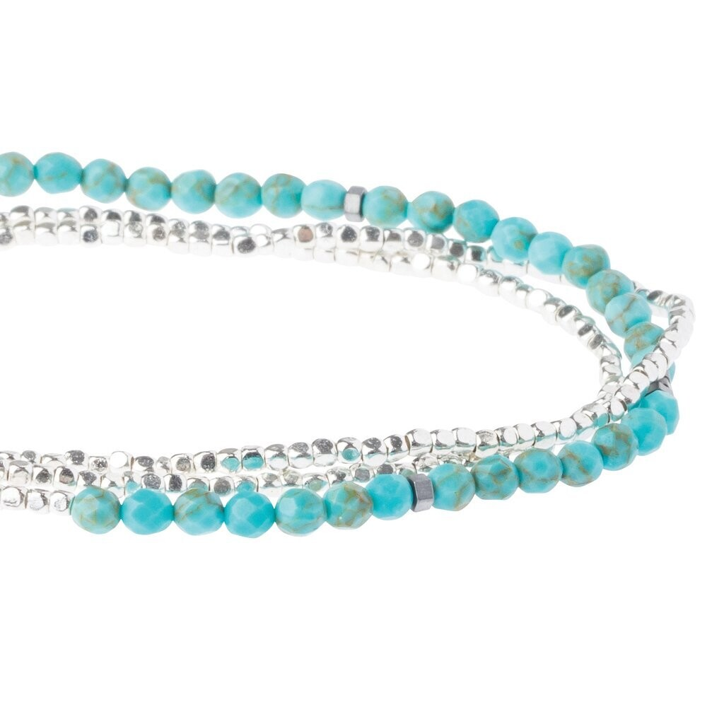 Delicate Stone Wrap - Turquoise/Silver