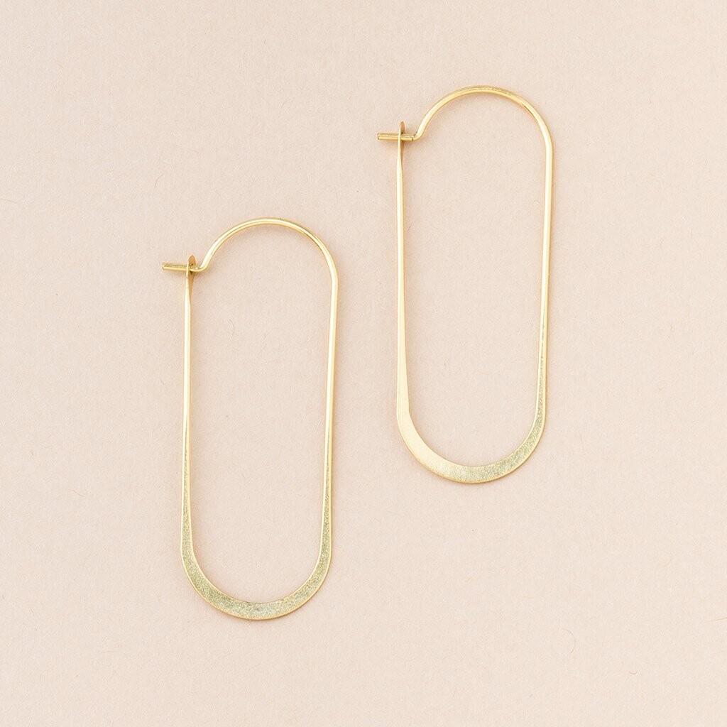 Refined Earring Cosmic Oval - Gold