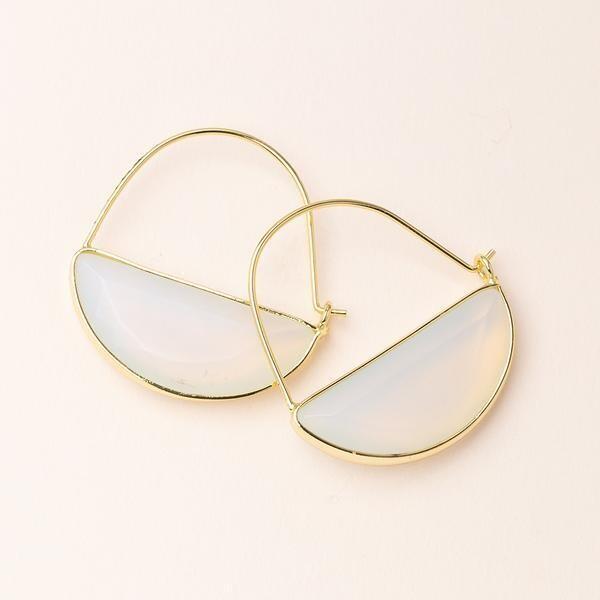 Stone Prism Hoop - Gold/Opalite