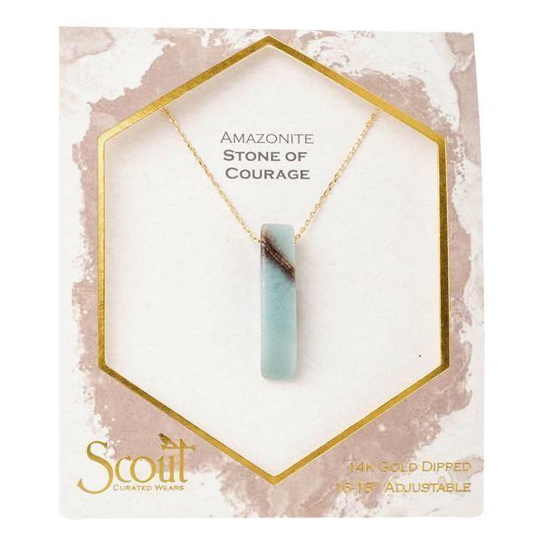 Stone Point Necklace - Amazonite