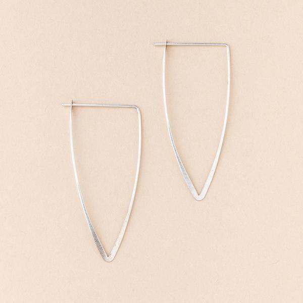 Refined Earring Galaxy Triangle - Silver