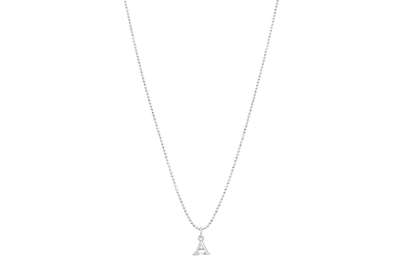 Diamond Cut Initial Necklace