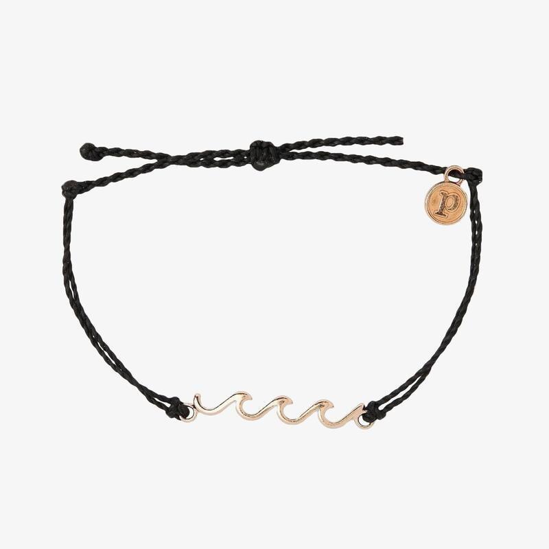 Delicate Wave Bracelet RG Black