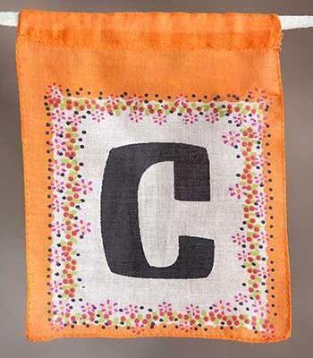 Letter Flag - C