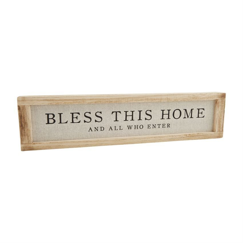 Bless This Home Distressed Plaque