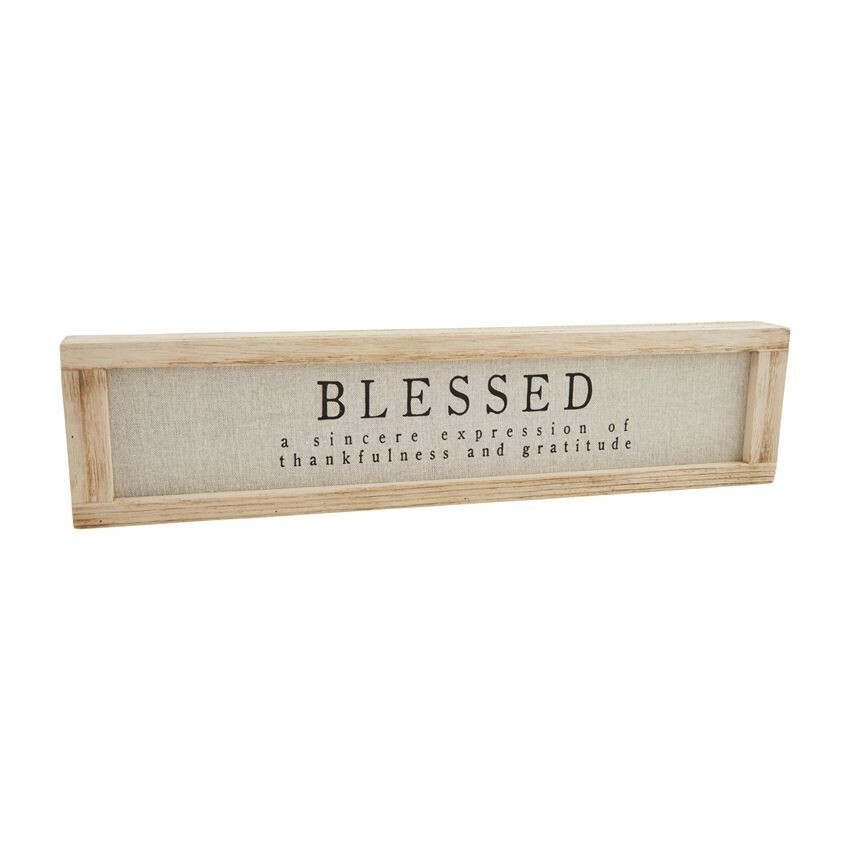 Blessed Distressed Pine Plaque