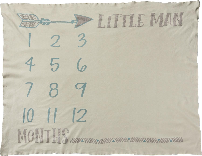 Milestone Blanket - Little Man