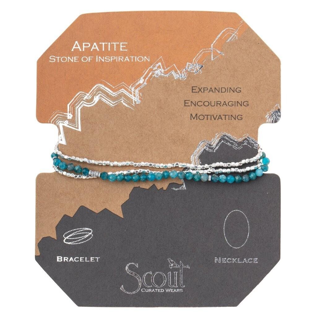 Delicate Stone Wrap - Apatite