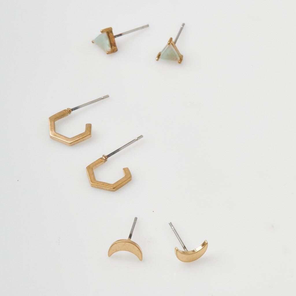 Ella Stud Trio Earrings