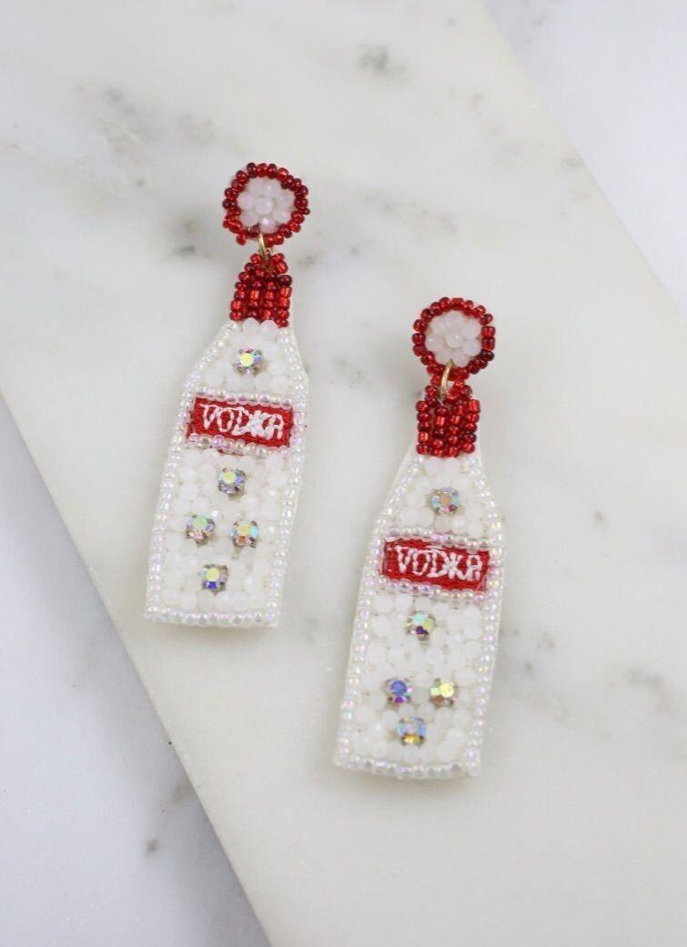 Vodka Beaded Earrings