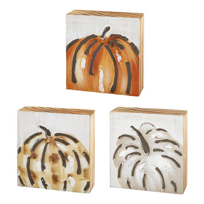 Mini Painted Pumpkin Blocks