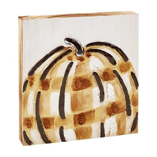 Buffalo Check Pumpkin Block