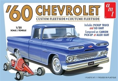 1/25 1960 Chevy Fleetside Pickup w/Go Kart 2T