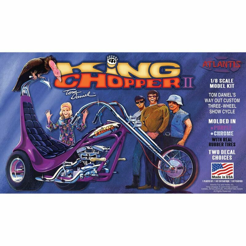 Tom Daniel King ChopperII 1/8 Plastic Model Trike