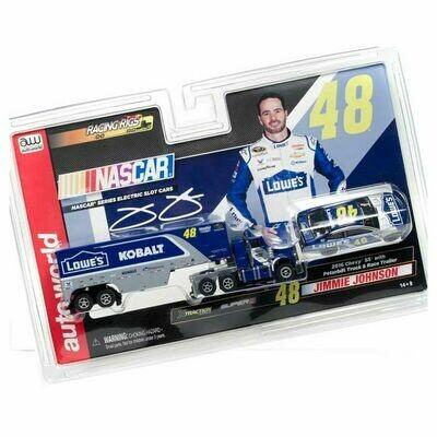 Racing Rigs R11 Jimmie Johnson Race Car & Truck Transporter (2-Pack) HO Slot Car