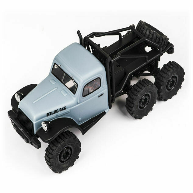 1/18 Atlas 6x6 Rock Crawler RTR: Blue