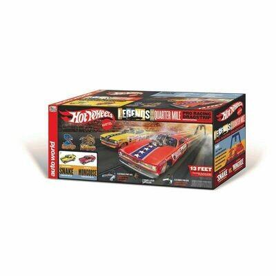 HO Snake vs Mongoose Drag Slot Car 13' Racing Set