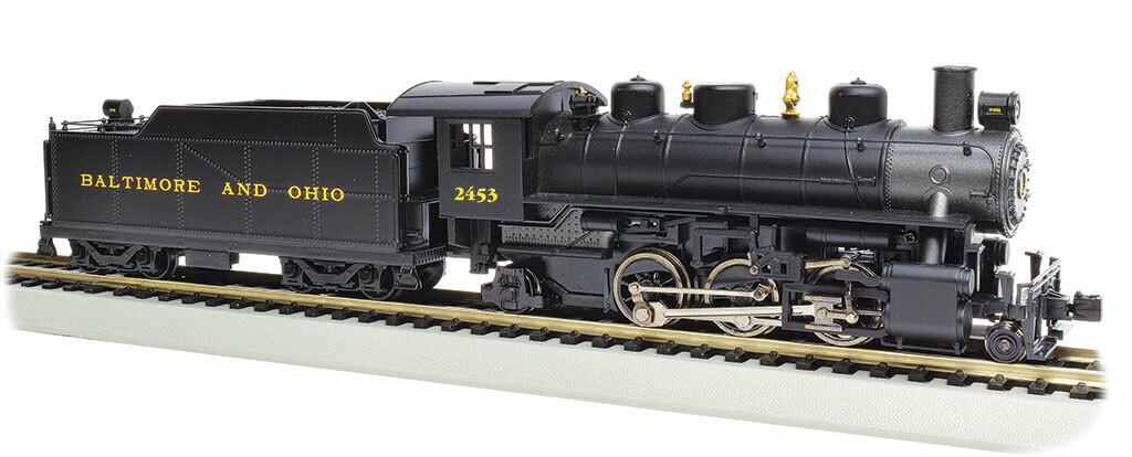 Baldwin 2-6-2 Prairie with Smoke - Standard DC -- Baltimore & Ohio #2453 (black, graphite, yellow)