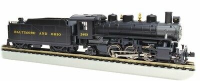 Baldwin 2-6-2 Prairie with Smoke - Standard DC -- Baltimore & Ohio #2453 (black, graphite, yellow)