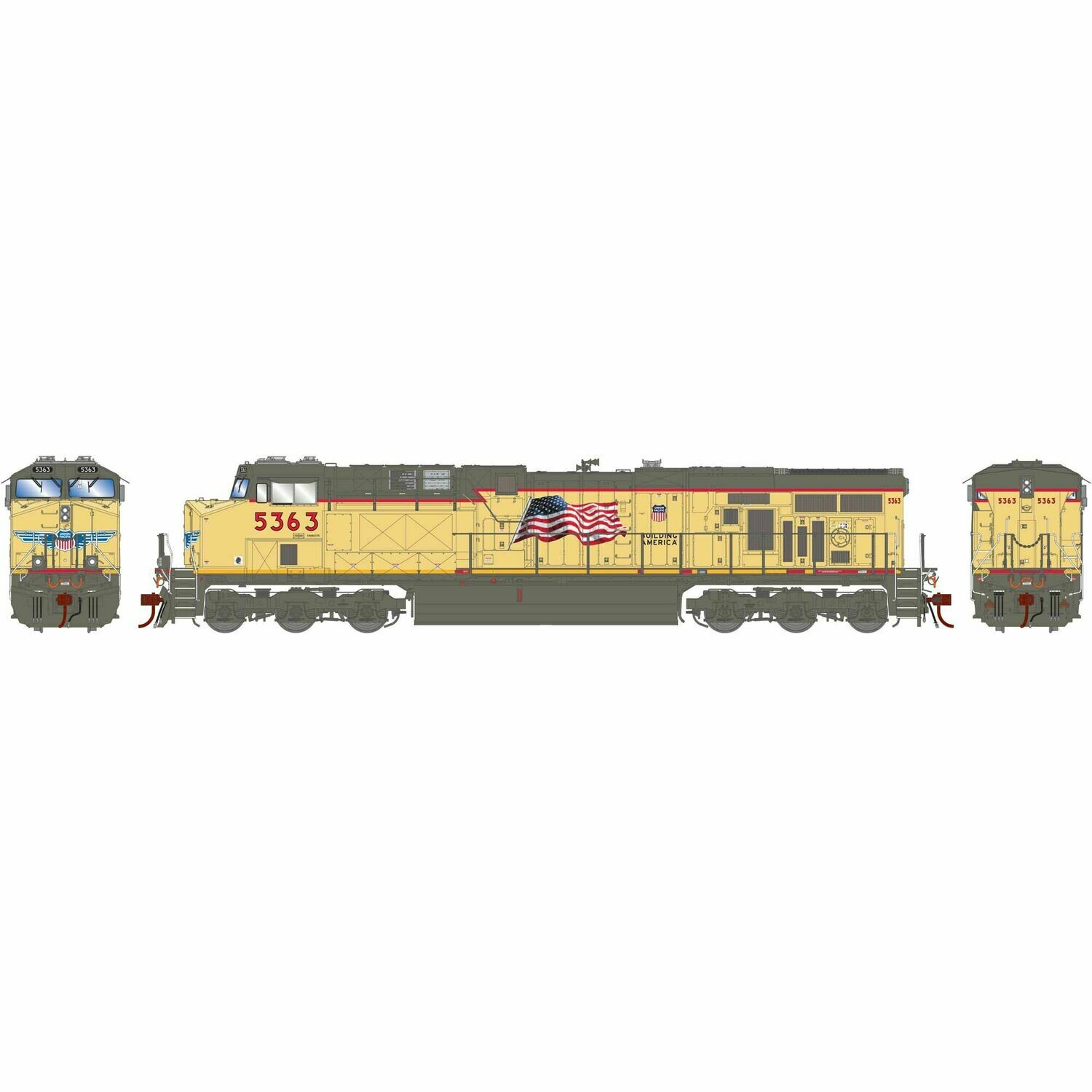 HO ES44AC w/DCC & Sound, UP/Fader #5363