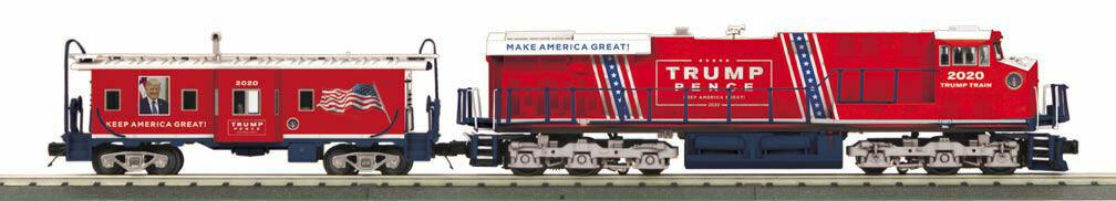 O Gauge RailKing ES44AC Imperial Diesel & Caboose Set With Proto-Sound 3.0