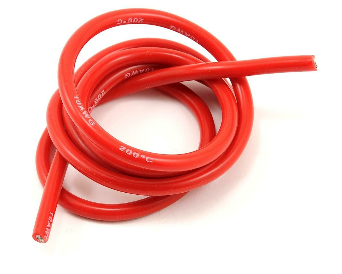 10awg Red Silicone Hookup Wire (1 Meter)