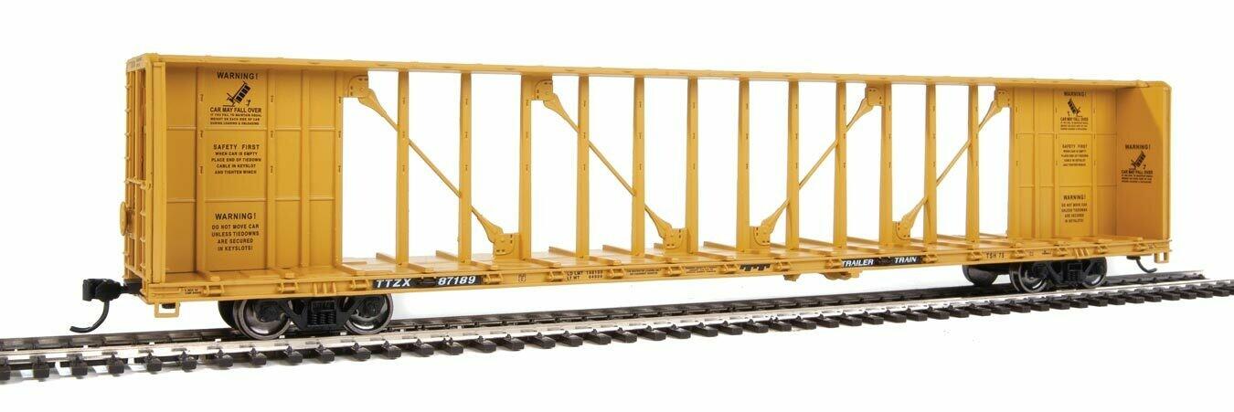 72' Centerbeam Flatcar with Standard Beam - Ready to Run -- Trailer-Train TTZX #87189
