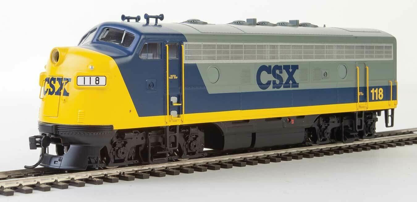 EMD F7 A - ESU Sound and DCC -- CSX #118 (YN2, gray, blue, yellow)