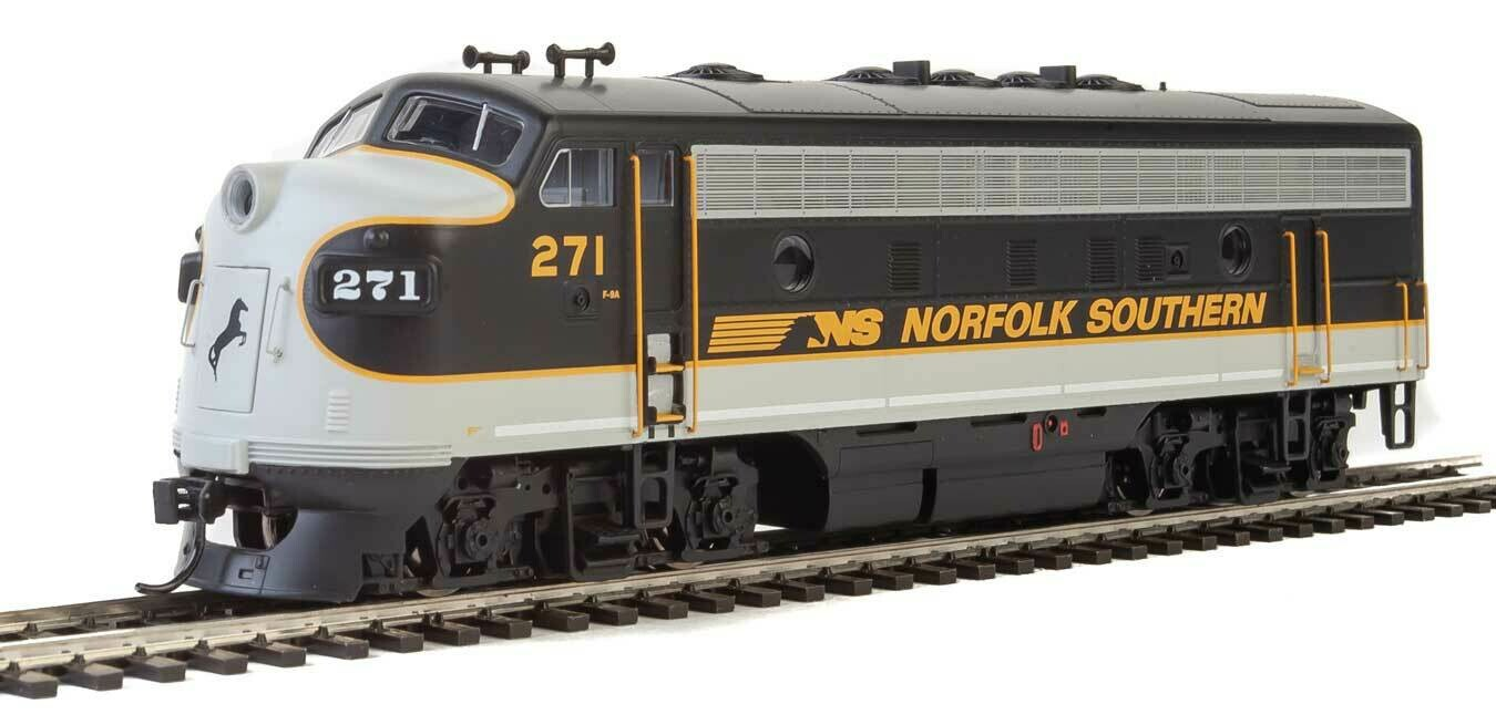 EMD F7 A - ESU Sound and DCC -- Norfolk Southern #271 (Tuxedo: black, Imitiation Aluminum, Dulux Gold)