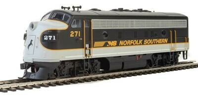 EMD F7 A - ESU Sound and DCC -- Norfolk Southern #271 (Tuxedo: black, Imitiation Aluminum, Dulux Gold)