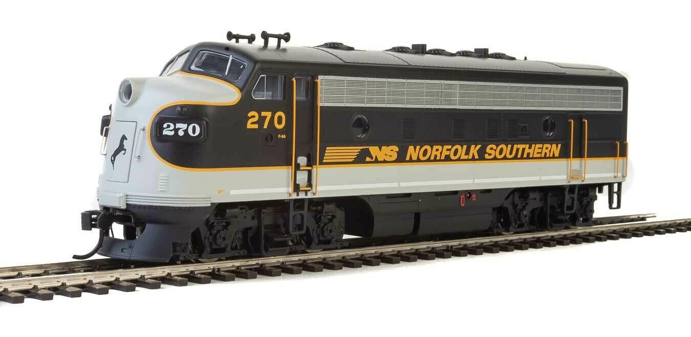 EMD F7 A-B Set - Standard DC -- Norfolk Southern #270, #276 (Tuxedo: black, Imitiation Aluminum, Dulux Gold)