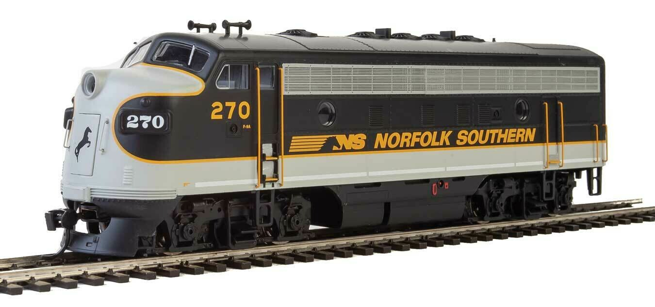 EMD F7 A-B Set - ESU Sound and DCC -- Norfolk Southern #270, #275 (Tuxedo: black, Imitiation Aluminum, Dulux Gold)