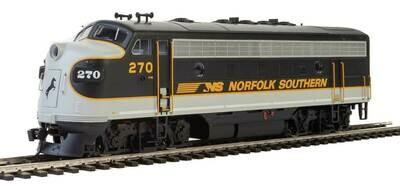 EMD F7 A-B Set - ESU Sound and DCC -- Norfolk Southern #270, #275 (Tuxedo: black, Imitiation Aluminum, Dulux Gold)