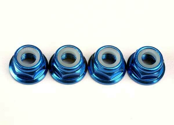 5MM FLANGED BLUE NUTS