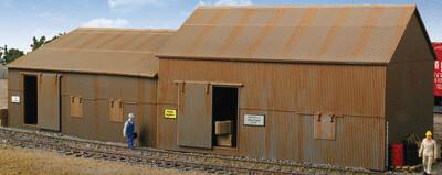 Cornerstone Series(R) Built-ups -- Trackside & Yard Buildings