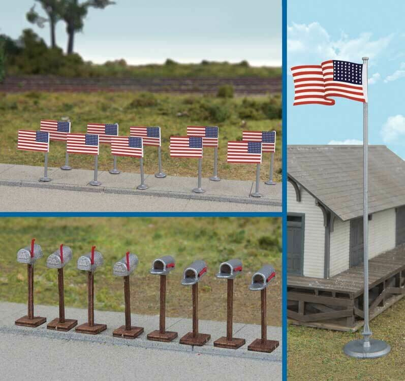 Flags (11) and Mailboxes (8) -- American Flags (48 Stars, 1912-1959)