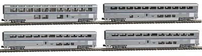 N Amtrak Superliner 4 Car Set