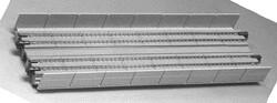 "N 248mm 9-3/4"" Straight Dbl Viaduct, Concrete (2)"