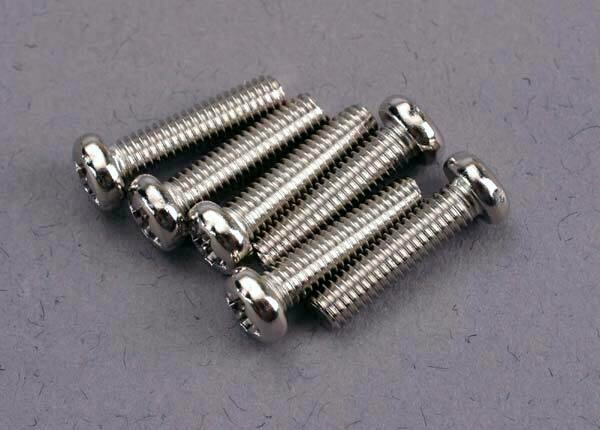 Screws, 3x12mm roundhead machine @ (6)