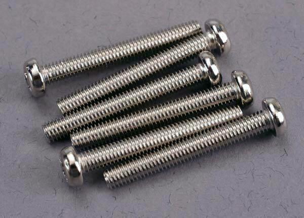 Screws, 3x23mm roundhead machine @ (6)
